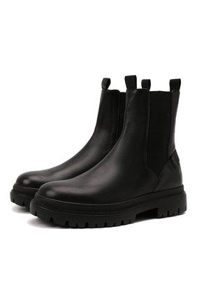 Мужские кожаные челси BOGNER черного цвета, арт. 12141641/CHESA ALPINA M 3 | Фото 1 (Материал внутренний: Натуральная кожа; Мужское Кросс-КТ: Сапоги-обувь, Челси-обувь; Подошва: Массивная)