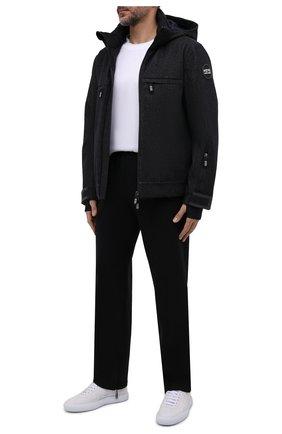 Мужская утепленная куртка GIORGIO ARMANI темно-синего цвета, арт. 1WG0B06G/T0316   Фото 2 (Рукава: Длинные; Длина (верхняя одежда): Короткие; Материал внешний: Шерсть; Материал подклада: Синтетический материал; Кросс-КТ: Куртка, Деним; Мужское Кросс-КТ: утепленные куртки; Стили: Кэжуэл)
