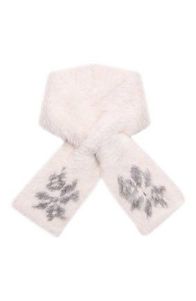 Женский шарф из меха норки KUSSENKOVV кремвого цвета, арт. 501750743532 | Фото 1 (Материал: Натуральный мех)