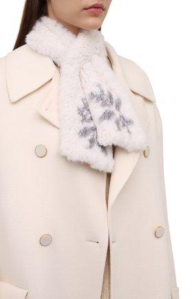 Женский шарф из меха норки KUSSENKOVV кремвого цвета, арт. 501750743532 | Фото 2 (Материал: Натуральный мех)