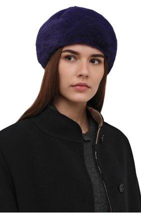 Женская берет из меха норки KUSSENKOVV фиолетового цвета, арт. 010100034023 | Фото 2 (Материал: Натуральный мех)