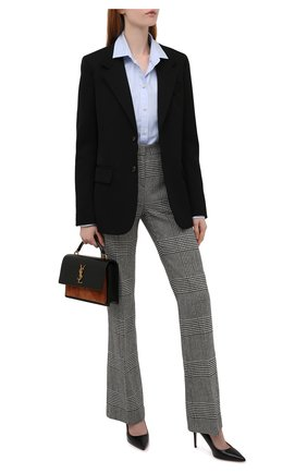 Женские кожаные туфли BOSS черного цвета, арт. 50380934 | Фото 2 (Каблук высота: Высокий; Материал внутренний: Натуральная кожа; Подошва: Плоская; Каблук тип: Шпилька)