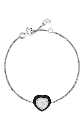 Женский браслет с сердцем из цитрина MOONKA розового цвета, арт. crg-br-crs   Фото 1 (Материал: Серебро)