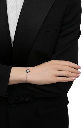 Женский браслет с сердцем из цитрина MOONKA розового цвета, арт. crg-br-crs   Фото 2 (Материал: Серебро)