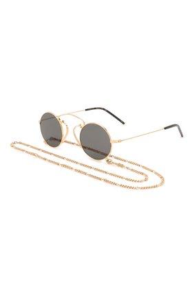 Женские солнцезащитные очки GUCCI золотого цвета, арт. GG0991S 002 | Фото 1 (Тип очков: С/з; Оптика Гендер: оптика-женское; Очки форма: Круглые, Креативные)