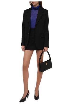 Женские кожаные туфли BALMAIN черного цвета, арт. WN0UK686/LVIT | Фото 2 (Материал внутренний: Натуральная кожа; Каблук высота: Высокий; Подошва: Плоская; Каблук тип: Устойчивый)