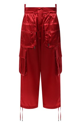 Женские брюки DOLCE & GABBANA красного цвета, арт. FTB8QT/FUS0K | Фото 1 (Материал внешний: Синтетический материал; Длина (брюки, джинсы): Стандартные; Женское Кросс-КТ: Брюки-одежда; Силуэт Ж (брюки и джинсы): Прямые; Стили: Гламурный)