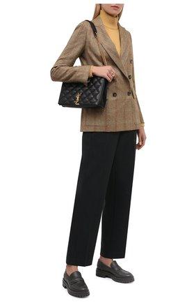 Женские кожаные лоферы argo GIANVITO ROSSI темно-серого цвета, арт. G25159.20G0M.CLNLAPI   Фото 2 (Материал внутренний: Натуральная кожа; Подошва: Платформа; Каблук высота: Низкий)