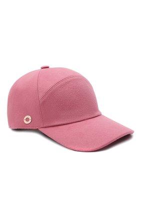 Женская кашемировая бейсболка LORO PIANA розового цвета, арт. FAF4494 | Фото 1 (Материал: Кашемир, Шерсть)