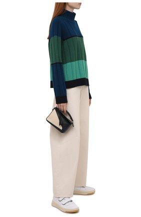 Женские джинсы UMA WANG кремвого цвета, арт. W1 W UW3036   Фото 2 (Материал внешний: Хлопок; Длина (брюки, джинсы): Стандартные; Кросс-КТ: Деним; Силуэт Ж (брюки и джинсы): Широкие; Стили: Гранж)
