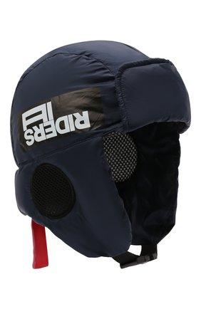 Детского утепленная шапка-ушанка AI RIDERS KIDS темно-синего цвета, арт. AIW1/LKK440/TKJ8 | Фото 1 (Материал: Синтетический материал, Текстиль)
