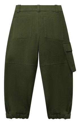 Детские хлопковые брюки-карго FENDI зеленого цвета, арт. JMF331/A7LV/8A-12+ | Фото 2 (Материал внешний: Хлопок; Мальчики Кросс-КТ: Брюки-одежда)