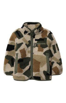 Детского куртка STELLA MCCARTNEY хаки цвета, арт. 603324/SRK62 | Фото 1 (Материал подклада: Синтетический материал; Материал внешний: Синтетический материал; Рукава: Длинные; Кросс-КТ: Сезон: демисезон)