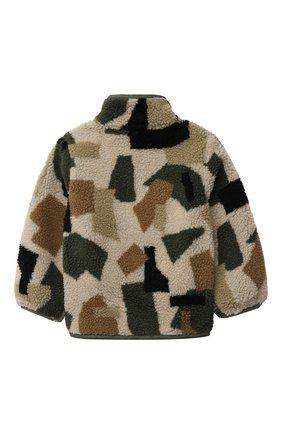 Детского куртка STELLA MCCARTNEY хаки цвета, арт. 603324/SRK62 | Фото 2 (Материал подклада: Синтетический материал; Материал внешний: Синтетический материал; Рукава: Длинные; Кросс-КТ: Сезон: демисезон)
