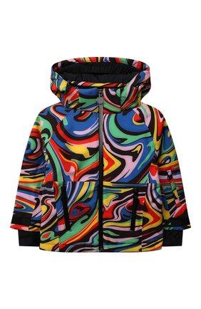 Детская утепленная куртка STELLA MCCARTNEY разноцветного цвета, арт. 603244/SRK06 | Фото 1 (Материал подклада: Синтетический материал; Рукава: Длинные; Материал внешний: Синтетический материал; Кросс-КТ: Сезон: зима)