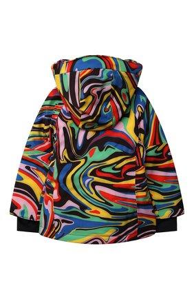 Детская утепленная куртка STELLA MCCARTNEY разноцветного цвета, арт. 603244/SRK06 | Фото 2 (Материал подклада: Синтетический материал; Рукава: Длинные; Материал внешний: Синтетический материал; Кросс-КТ: Сезон: зима)