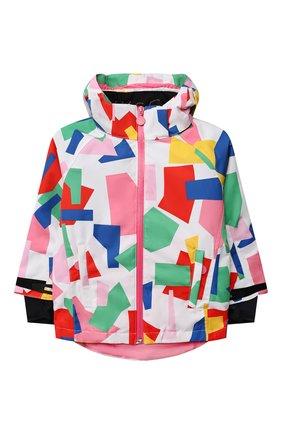 Детская утепленная куртка STELLA MCCARTNEY разноцветного цвета, арт. 603242/SRK09 | Фото 1 (Рукава: Длинные; Материал внешний: Синтетический материал; Материал подклада: Синтетический материал; Кросс-КТ: Сезон: зима)