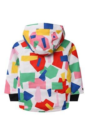 Детская утепленная куртка STELLA MCCARTNEY разноцветного цвета, арт. 603242/SRK09 | Фото 2 (Рукава: Длинные; Материал внешний: Синтетический материал; Материал подклада: Синтетический материал; Кросс-КТ: Сезон: зима)