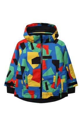 Детского утепленная куртка STELLA MCCARTNEY разноцветного цвета, арт. 603234/SRK07 | Фото 1 (Рукава: Длинные; Материал подклада: Синтетический материал; Материал внешний: Синтетический материал)
