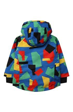 Детского утепленная куртка STELLA MCCARTNEY разноцветного цвета, арт. 603234/SRK07 | Фото 2 (Рукава: Длинные; Материал подклада: Синтетический материал; Материал внешний: Синтетический материал)