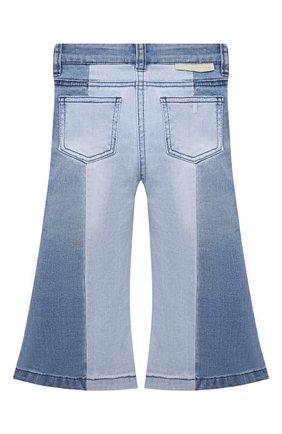 Детские джинсы STELLA MCCARTNEY голубого цвета, арт. 603297/SRK66   Фото 2 (Материал внешний: Хлопок; Кросс-КТ: джинсы)