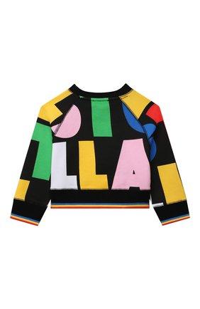 Детский хлопковый свитшот STELLA MCCARTNEY разноцветного цвета, арт. 602645/SRJ20 | Фото 2 (Рукава: Длинные; Материал внешний: Хлопок; Девочки Кросс-КТ: Толстовка-одежда)