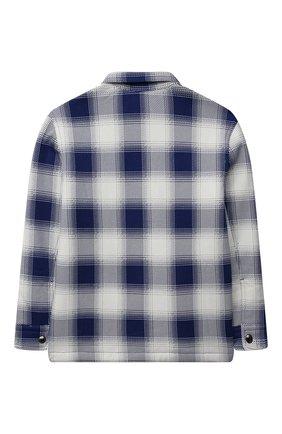 Детская хлопковая рубашка POLO RALPH LAUREN синего цвета, арт. 323853892 | Фото 2 (Рукава: Длинные; Материал внешний: Хлопок; Случай: Повседневный)