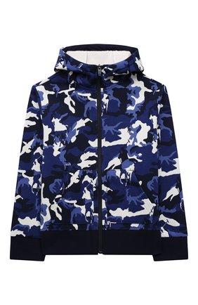 Детский хлопковая толстовка POLO RALPH LAUREN синего цвета, арт. 323853617 | Фото 1 (Рукава: Длинные; Материал внешний: Хлопок; Мальчики Кросс-КТ: Толстовка-одежда)