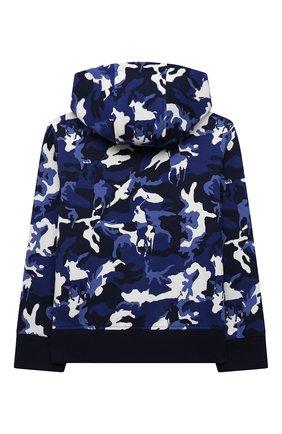 Детский хлопковая толстовка POLO RALPH LAUREN синего цвета, арт. 323853617 | Фото 2 (Рукава: Длинные; Материал внешний: Хлопок; Мальчики Кросс-КТ: Толстовка-одежда)