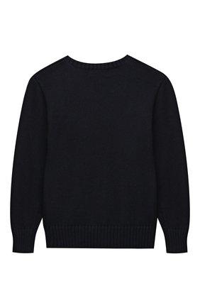 Детский хлопковый пуловер POLO RALPH LAUREN синего цвета, арт. 323668286 | Фото 2 (Рукава: Длинные; Материал внешний: Хлопок; Мальчики Кросс-КТ: Пуловер-одежда)