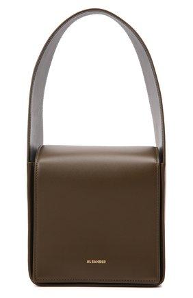 Женская сумка sling JIL SANDER хаки цвета, арт. JSWT852620-WTB69161N | Фото 1 (Материал: Натуральная кожа; Сумки-технические: Сумки top-handle; Размер: mini)