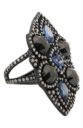 Женские кольцо SUTRA JEWELS бесцветного цвета, арт. SJR248 | Фото 1 (Материал сплава: Белое золото; Драгоценные камни: Бриллианты, Сапфиры)