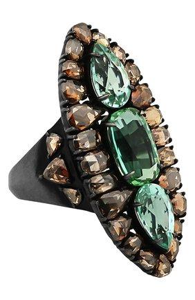 Женские кольцо SUTRA JEWELS бесцветного цвета, арт. SJR614 | Фото 1 (Материал сплава: Белое золото; Драгоценные камни: Бриллианты)