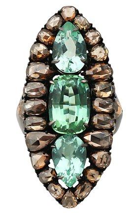 Женские кольцо SUTRA JEWELS бесцветного цвета, арт. SJR614 | Фото 2 (Материал сплава: Белое золото; Драгоценные камни: Бриллианты)