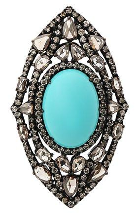Женские кольцо SUTRA JEWELS бесцветного цвета, арт. SJR682 | Фото 2 (Материал сплава: Белое золото; Драгоценные камни: Бриллианты, Другие)
