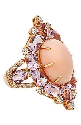 Женские кольцо SUTRA JEWELS бесцветного цвета, арт. SJR1011 | Фото 1 (Материал сплава: Розовое золото; Драгоценные камни: Другие, Бриллианты)