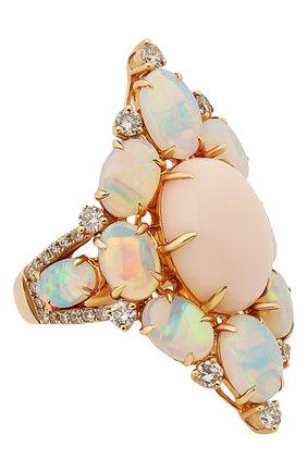 Женские кольцо SUTRA JEWELS бесцветного цвета, арт. SJR1011 OP | Фото 1 (Материал сплава: Розовое золото; Драгоценные камни: Другие, Бриллианты)
