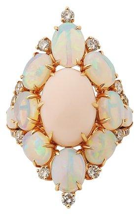 Женские кольцо SUTRA JEWELS бесцветного цвета, арт. SJR1011 OP | Фото 2 (Материал сплава: Розовое золото; Драгоценные камни: Другие, Бриллианты)