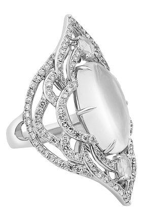 Женские кольцо SUTRA JEWELS бесцветного цвета, арт. SJR1102 MS | Фото 1 (Материал сплава: Белое золото; Драгоценные камни: Другие, Бриллианты)
