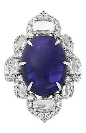 Женские кольцо SUTRA JEWELS бесцветного цвета, арт. SJR1144 | Фото 2 (Материал сплава: Белое золото; Драгоценные камни: Бриллианты)