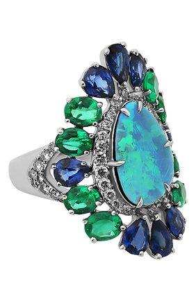 Женские кольцо SUTRA JEWELS бесцветного цвета, арт. SJR1282 | Фото 1 (Материал сплава: Белое золото; Драгоценные камни: Бриллианты, Сапфиры, Изумруды, Другие)