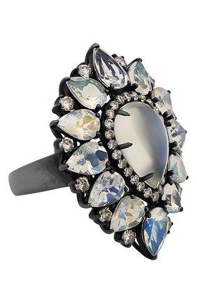 Женские кольцо SUTRA JEWELS бесцветного цвета, арт. SJR1301 | Фото 1 (Материал сплава: Белое золото; Драгоценные камни: Бриллианты, Другие)