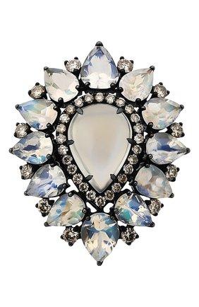 Женские кольцо SUTRA JEWELS бесцветного цвета, арт. SJR1301 | Фото 2 (Материал сплава: Белое золото; Драгоценные камни: Бриллианты, Другие)