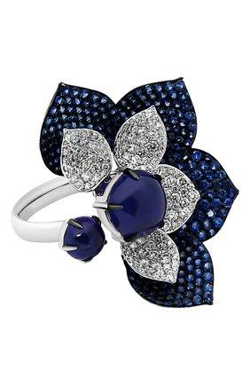 Женские кольцо SUTRA JEWELS бесцветного цвета, арт. SJR1416 | Фото 1 (Материал сплава: Белое золото; Драгоценные камни: Сапфиры, Бриллианты)