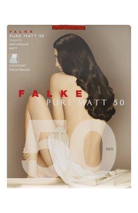 Женские колготки pure matt 50 FALKE красного цвета, арт. 40150   Фото 1 (Материал внешний: Синтетический материал)