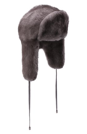 Женская шапка-ушанка из меха норки KUSSENKOVV разноцветного цвета, арт. 090600010093   Фото 1 (Материал: Натуральный мех)
