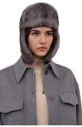 Женская шапка-ушанка из меха норки KUSSENKOVV разноцветного цвета, арт. 090600010093   Фото 2 (Материал: Натуральный мех)