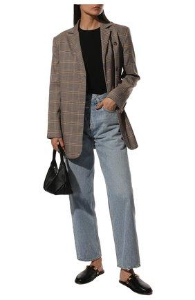 Женские кожаные сабо roman stud VALENTINO черного цвета, арт. WW0S0DH3/YPK | Фото 2 (Материал внутренний: Натуральная кожа; Подошва: Плоская)