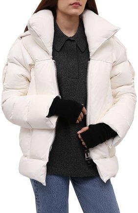 Женские кашемировые митенки LISA YANG черного цвета, арт. 401523   Фото 2 (Материал: Шерсть, Кашемир; Женское Кросс-КТ: митенки)