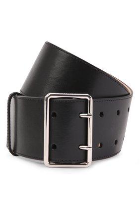 Женский кожаный ремень ALEXANDER MCQUEEN черного цвета, арт. 621405/1BR0Y | Фото 1